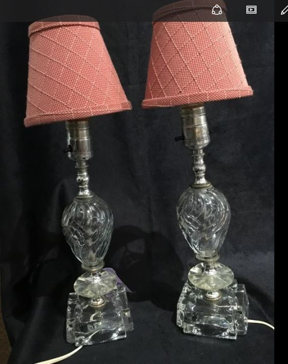pr sm glass lamps
