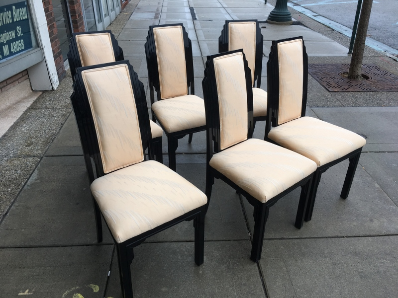 Black Laquer Dining Chairs