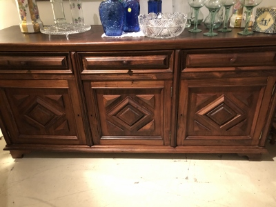 Brazilian Carved Wood Buffet Cabinet