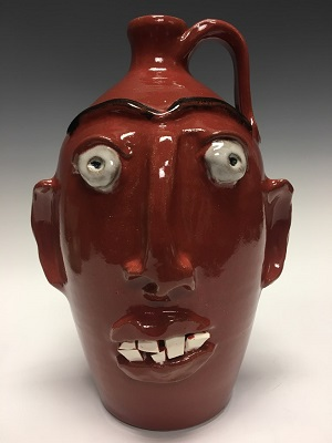 Red Face Jug