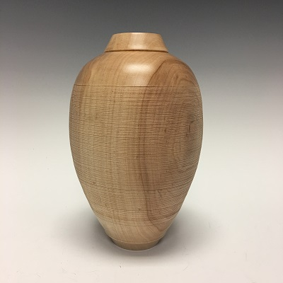 """Textured Maple Vase"""
