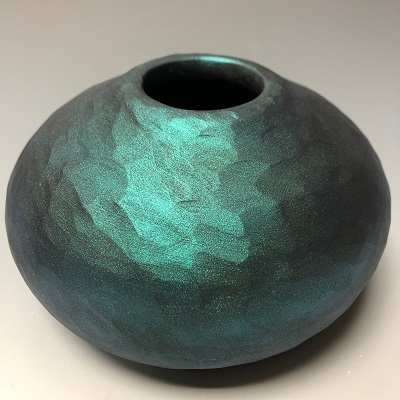 Turquoise textured hollow form